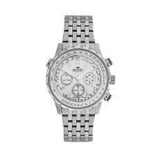 Rotary Men S 42 Mm Chronograph Silver Steel Bracelet Case Date Watch GB 00175 06