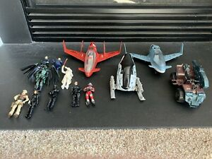 Gi Joe Lot of 7 Figures and 4 Vehicles
