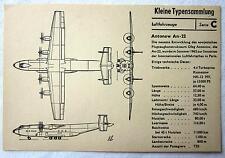 DDR Kleine Typensammlung Luftfahrzeuge - Antonow An-22