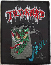 TANKARD Alien Vintage 1990 Woven Sew On Patch Unused EMP Merch.