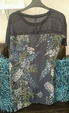 BNWT Very Trendy Next Blue Flowered Top Size 10 Petite