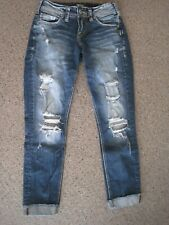 Silver Jeans Co Suki SkinnC crop Capris Denim Blue Jeans Waist Size 25 Length 25