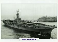 1944 HMS WARRIOR Aircraft Carrier Ship / GB Warship Photograph Maxi Card