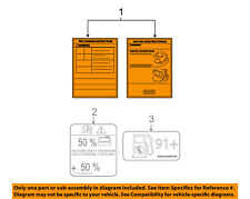 FORD OEM Labels-Label 6E5Z17A083A