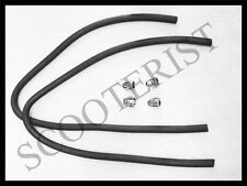 Lambretta LI TV Front Leg Shield Rubber Beading Black Chrome Clips 4 Pcs.