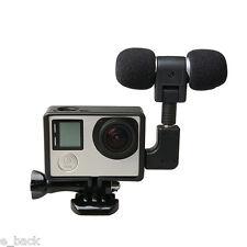 External Microphone Mic+Adapter+Standard Frame case Kit for GoPro Hero 5 4 3+ 3