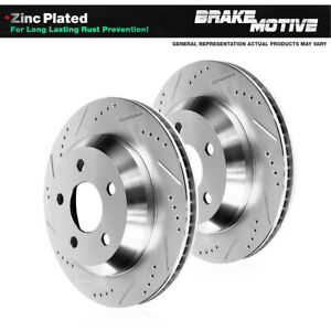 Rear Drill Slot Brake Rotors For Mercedes Benz C250 C300 C350 E350 E400 E550