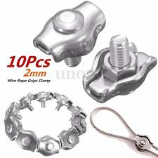 10Pcs 2mm Clips 316 Stainless Steel Wire Rope Simple Grips Cable Clamps Calipers