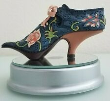 """Just The Right Shoe by Raine 1999 Qvc """"Versailles"""" #25021 Blue/Pink Collectable"""