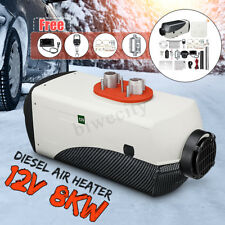 8KW 12V Diesel Air Heater LCD Thermostat Low Noise For Trucks Boat Car Trailer