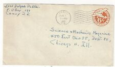 1951 Camuy Puerto Rico, 6c #UC5 Stationery Airmail Entire w/o Border Chicago IL