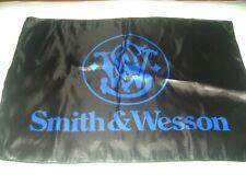 S&W Handgun Flag Polyester Black SMITH WESSON Flag Deco Mancave 2nd carry gun