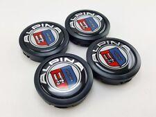 Black Center Caps Size 56mm. Logo Emblem Alpina Parts Car Wheel Racing Cover Rim