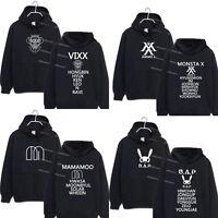 KPOP BAP MAMAMOO Cap Hoodie Sweater Unisex Monsta x Sweatershirt VIXX Coat IKON
