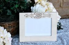 Antique white 5x7 embellished wooden tabletop picture frame home decor