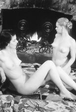 Vtg B&W 1950s Photo Girl Pinup Naughty Pointy Nipples Tits Boobs Risque #951