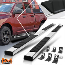 For 09 20 Dodge Ram 1500 3500 Ext Cab 5 Step Pad Nerf Bar Running Boards Silver Fits Dodge Ram 1500