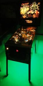 Creature from the Black Lagoon, Scared Stiff Pinball Cabinet light mod GREEN