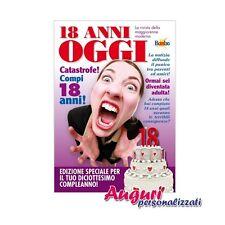 Biglietto compleanno auguri rivista settimanale 18 anni amica gossip e notizie s
