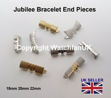 Jubilee Bracelet End Pieces Straight Curved Silver Gold 2-Tone Rose Gold