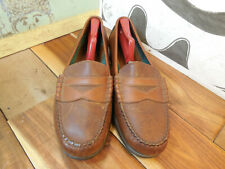 Bass Brown Leather Penny Loafers Men's 11M Made in Brazil