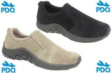 PDQ Suede Leather Twin Gusset Jungle Casual Shoes Size 6 7 8 9 10 11 12 13 14