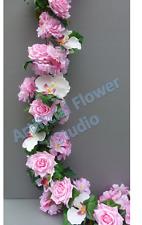 Artificial Garland - Ivy, Light Pink Rose & Blossom Wedding/Festival Decoration
