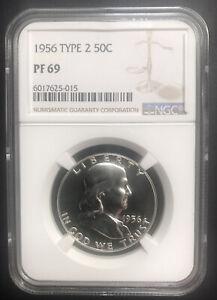 1956 Type 2 Franklin Half Dollar 50c Proof NGC PF 69