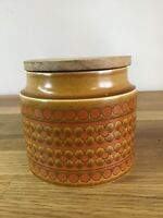Vintage Hornsea Saffron Jar Container 1970s Wooden Lid Retro