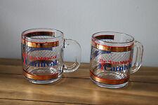 Set of 2 Vintage Carnival Cruise Fantasy Glass Mugs