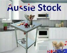 430 Stainless Steel Kitchen Work Bench Food Prep Tables Optional Wheels Castors