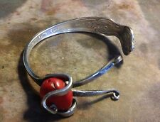 Hand crafted  Rogers FORK BRACELET silver-EXTRA plated Serving Fork  ((11))