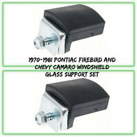 OER 9624995-2 Windshield Glass Support 1970-81 Pontiac Firebird Chevy Camaro Set
