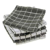 DII Terry Combo Windowpane Dishcloths Absorbant, Multi-Use, Fast Drying and
