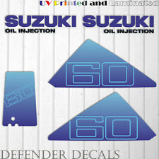 Suzuki 60 hp DT60 outboard engine decal sticker set kit reproduction 60HP