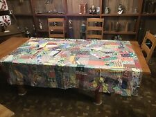 Vintage Crazy Quilt Top....Feed Sack Backing