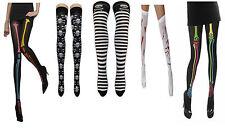 Women's Halloween Skull & Bones Printed  Socks Neon Tights Blood Stockings Fancy