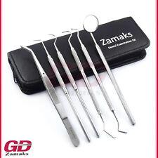 6er Dentalset Zahnsonde Zahnreinigung Zahnpflege Dentalspiegel Zahnarzt Werkzeug