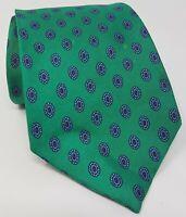 Cravatta aquascutum 100% pura seta tie made in italy original handmade vintage