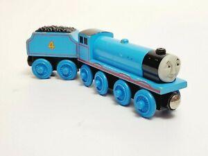 Thomas Wooden Railway Gordon The Big Blue Engine & Tender 2001 train No stripes