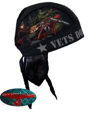 Vets Bandana Foulard Bandeau capuche Biker Chopper Cap v2 Harley POW MIA armée militaire