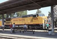 UNION PACIFIC Railroad Locomotive Train Station SAN JOSE CA Original Photo Slide