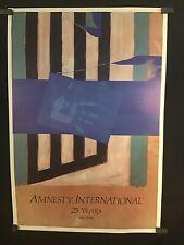 Vintage 1986 Amnesty International Original Poster ~ Steven Sorman ~ Unused