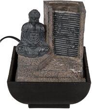 """Polyresin-Zimmerbrunnen Zimmerspringbrunnen Tischbrunnen """"Buddha with Waterfall"""""""