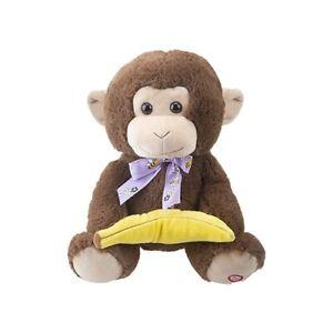 Peekaboo Monkey Plush Soft Toy - Dual Function Animated Singing and Moving Ears