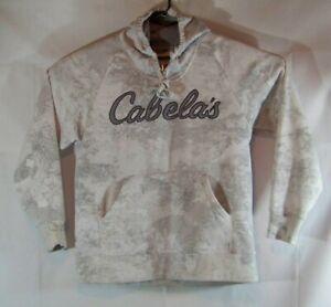 Cabela's Gray/White Pullover Hoodie Mens XL sweater sweatshirt