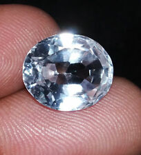 Loose Gemstone Natural White Sapphire 7 to 8 Cts Certified Wonderful