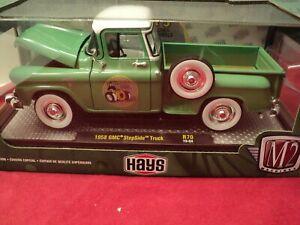 M2 Machines 1958 GMC stepside  NIB  1:24 Scale 1/5,880  made green exterior