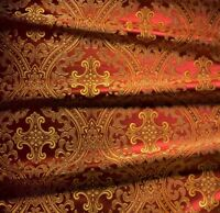 Church Liturgical Brocade Quality Fabric Vestment 150cm wide Cross Pattern Greek