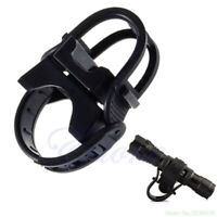 360 Degree Cycling Bicycle Bike Mount Holder fr LED Flashlight Torch Clip Clamp